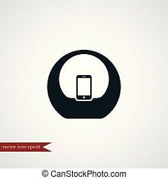 semplice, audio, sistem, illustrazione, icona