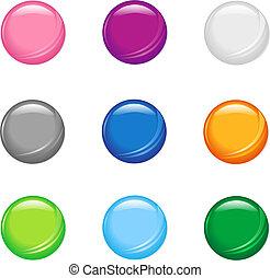 semplice, bottoni, baluginante