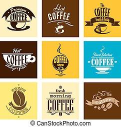 semplice, cuocere vapore caffè, campanelle, bandiere
