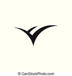 semplice, logotipo, libro, aperto, vettore