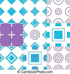 semplice, modello, astratto, seamless, vettore, geometrico