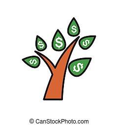 semplice, moderno, disegno, trendy, disegno, web, concept., internet, bianco, simbolo, sito web, finanza, segno., fondo, icona, grafico, mobile, bottone, albero, app., vettore, o