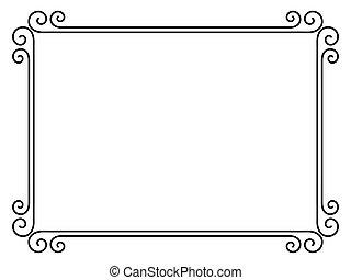 semplice, ornamentale, decorativo, cornice