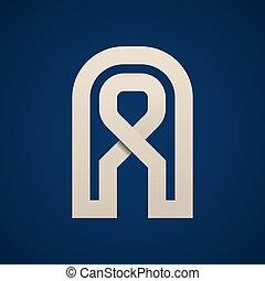 semplice, simbolo, vettore, carta, lettera