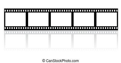 semplice, striscia, film