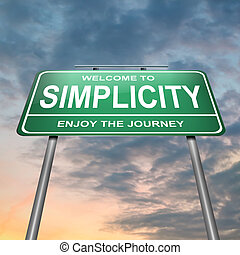 semplicità, concept.