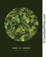 sempreverde, decorazione, modello, albero, fondo, cerchio, natale