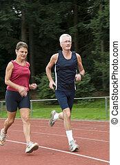 seniors, correndo