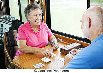 seniors, gioco, -, cartelle, rv