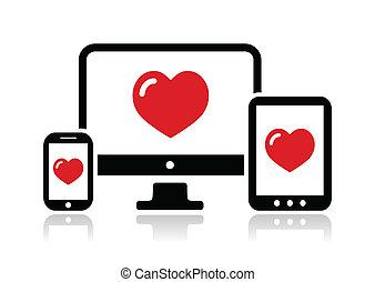 sensibile, sito web, disegno, icona