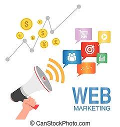 seo, web, concetto, marketing