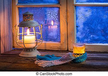 sera, caldo, inverno, soltanto, tè