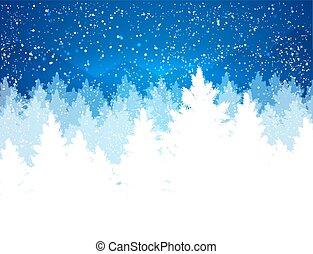 sera, paesaggio inverno