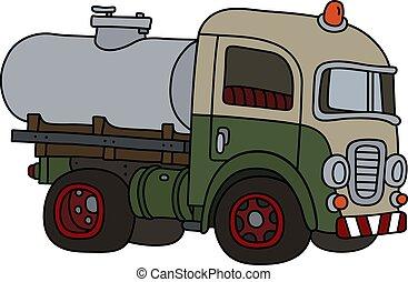 serbatoio, divertente, vecchio camion