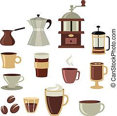 serie caffè, -, 3, icone