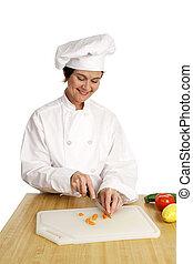 serie, -, chef, preparazione, cibo