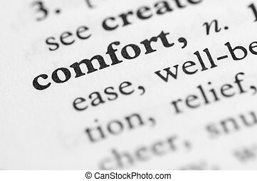 serie, conforto, -, dizionario