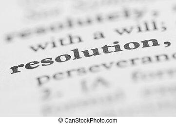 serie, -, risoluzione, dizionario