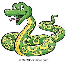 serpente, cartone animato