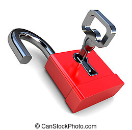 serratura, aperto