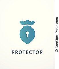 serratura, castello, logotipo