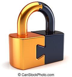 serratura, puzzle, sicurezza, lucchetto