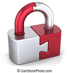 serratura, sicurezza, salvaguardia, lucchetto