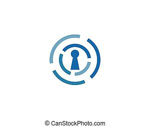 serratura, sicurezza, vettore, sistem, logotipo