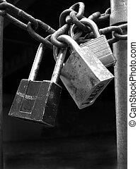 serrature, sicurezza, catena