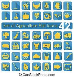 set, agricoltura, icone