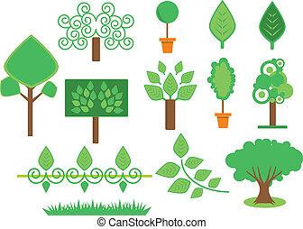 set, albero, vegetazione