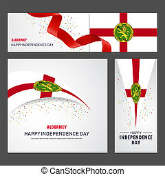 set, alderney, fondo, bandiera, giorno, indipendenza, felice