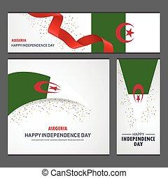 set, alegeria, fondo, bandiera, giorno, indipendenza, felice