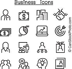 set, amministrazione, affari, icona