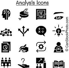 set, analisi, icona