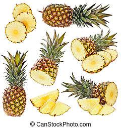 set, ananas