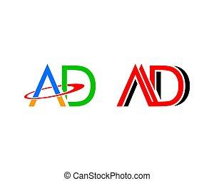 set, annuncio, elementi, disegno, lettera, logotipo, sagoma