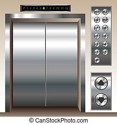 set, ascensore