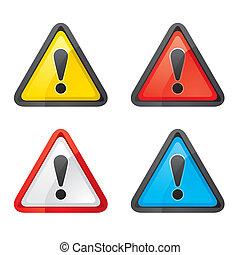 set, avvertimento, azzardo, attenzione, segno