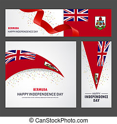 set, bermude, fondo, bandiera, giorno, indipendenza, felice
