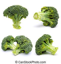 set, broccolo, maturo, isolato