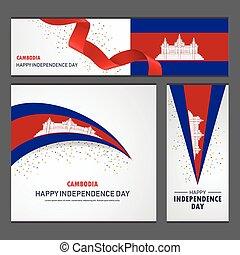 set, cambogia, fondo, bandiera, giorno, indipendenza, felice