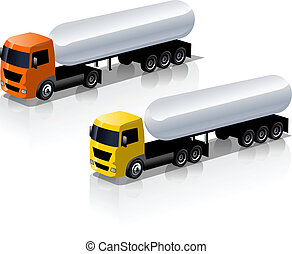 set, camion, icone