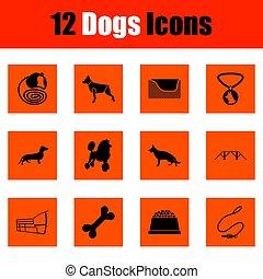 set, cani, icona