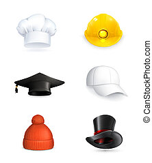 set, cappelli, vettore