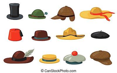 set, cappucci, cappelli