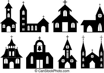 set, cattolico, ortodosso, differente, curches