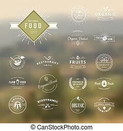 set, cibo, natura, etichette