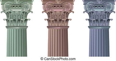 set, colonne, classico