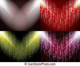 set, colorato, astratto, text., posto, fondo, tuo, riflettori